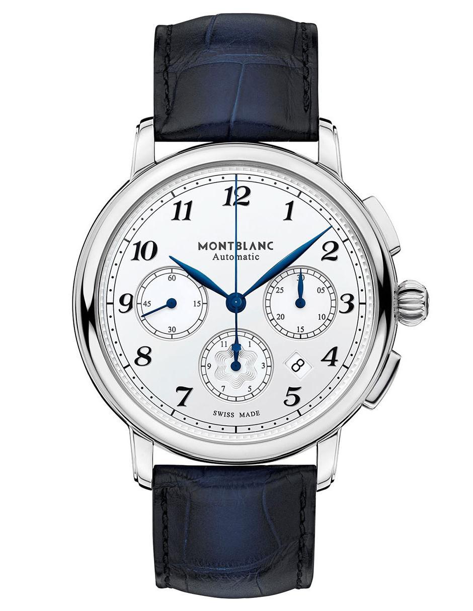 776711866c91 Reloj para caballero Montblanc Star Legacy 118514 azul marino